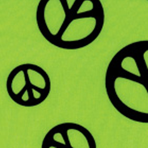 Print Fabric Lime Peace Out