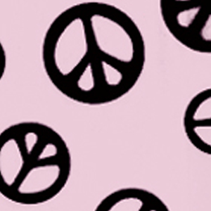 Print Fabric Pink Peace Out
