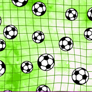 Clingon's Exclusive Print Fabric Lime Soccer